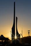 雕刻代表Oifa和Strongbow在千年广场 库存图片
