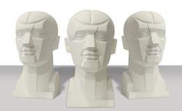 雕刻解剖学头 库存图片