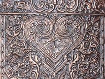 雕刻银器的艺术和样式 免版税库存图片