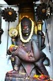 雕刻Hanuman Dhoka的上帝在加德满都Durbar广场尼泊尔的 免版税库存照片