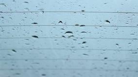 雨下落在Windows铺平 影视素材