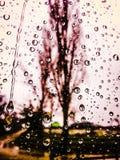 雨下降纹理 免版税库存图片