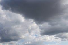 雨云阴暗天空形成在cli的概念的天空的 免版税图库摄影