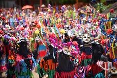 雨仪式节日发埃Khon Nam跳舞游行  免版税库存照片