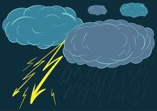 雨和闪电 图库摄影