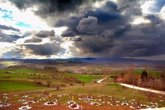 雨在土耳其 免版税库存照片
