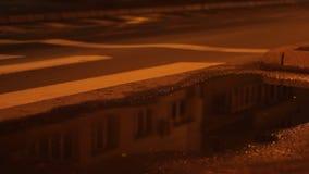 雨夜交通水坑  股票视频