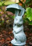 雨天兔子 免版税库存图片