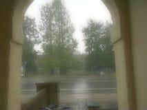 雨天在剑桥 库存照片