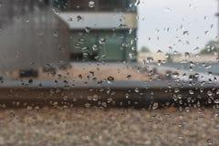 雨天在办公室 免版税库存图片