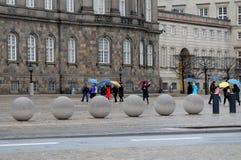 雨天气在哥本哈根丹麦 库存图片