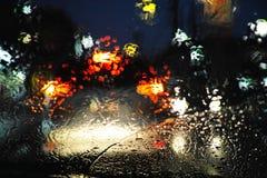 雨天驱动 免版税库存图片