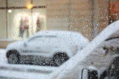 雨夹雪天气 库存照片