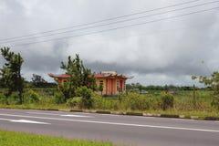 雨季在热带,毛里求斯 库存图片