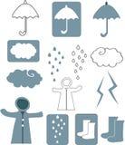 雨季设计 免版税库存图片