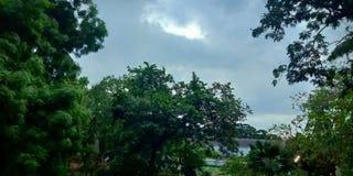 雨将开始 免版税库存照片