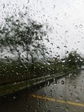 雨我的窗口外 免版税库存图片