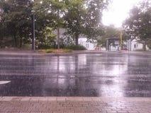雨时间 免版税库存照片
