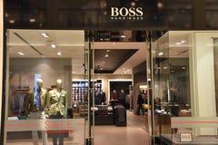 雨果美国的购物中心的上司商店在布鲁明屯,明尼苏达 免版税库存照片