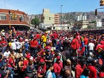 雨果Chavez支持者  免版税图库摄影