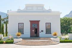 雨格诺派博物馆在Franchoek 免版税库存照片