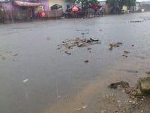 暴雨现象在西非 免版税库存照片