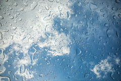 雨珠或水滴 免版税库存照片