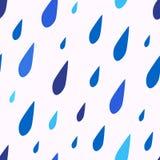 雨珠的无缝的样式