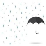 雨珠背景 图库摄影