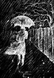 雨走 图库摄影