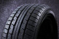 雨轮胎 免版税库存照片