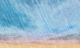 雨风暴背景 库存图片