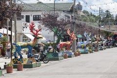 雨鹿Gramado圣诞节巴西 免版税库存照片