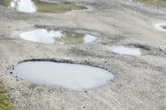 雨水坑 免版税库存图片