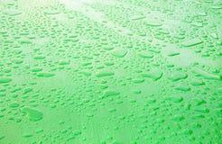 雨水滴的表面  免版税库存照片