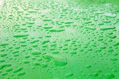 雨水滴的表面  免版税图库摄影