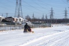 雪上电车 库存图片