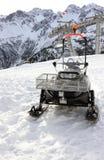 雪上电车 Fellhorn在冬天 阿尔卑斯,德国 免版税库存照片