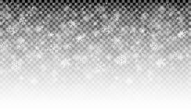 雪与传染媒介透明度的秋天背景 库存例证