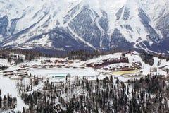 滑雪中心 免版税库存照片