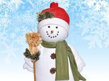 雪人冬天 库存照片