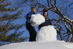 雪人在中央公园 库存照片