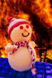 雪人在地狱 免版税图库摄影
