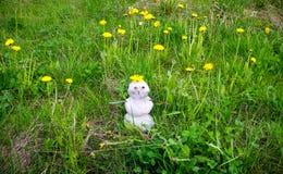 雪人在夏天 图库摄影