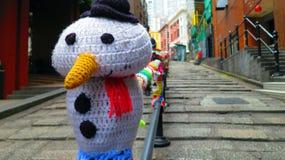 雪人在香港 库存照片