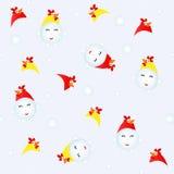雪人服装公鸡 库存照片