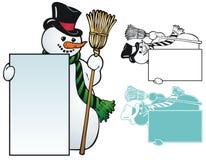 雪人框架 免版税库存图片