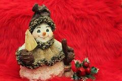 雪人等待的圣诞节 库存照片