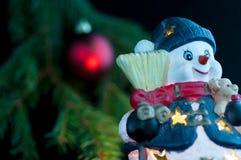 雪人装饰 免版税图库摄影