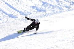滑雪人雪sugli sci塞斯特列雷山口Sci俱乐部 免版税库存图片